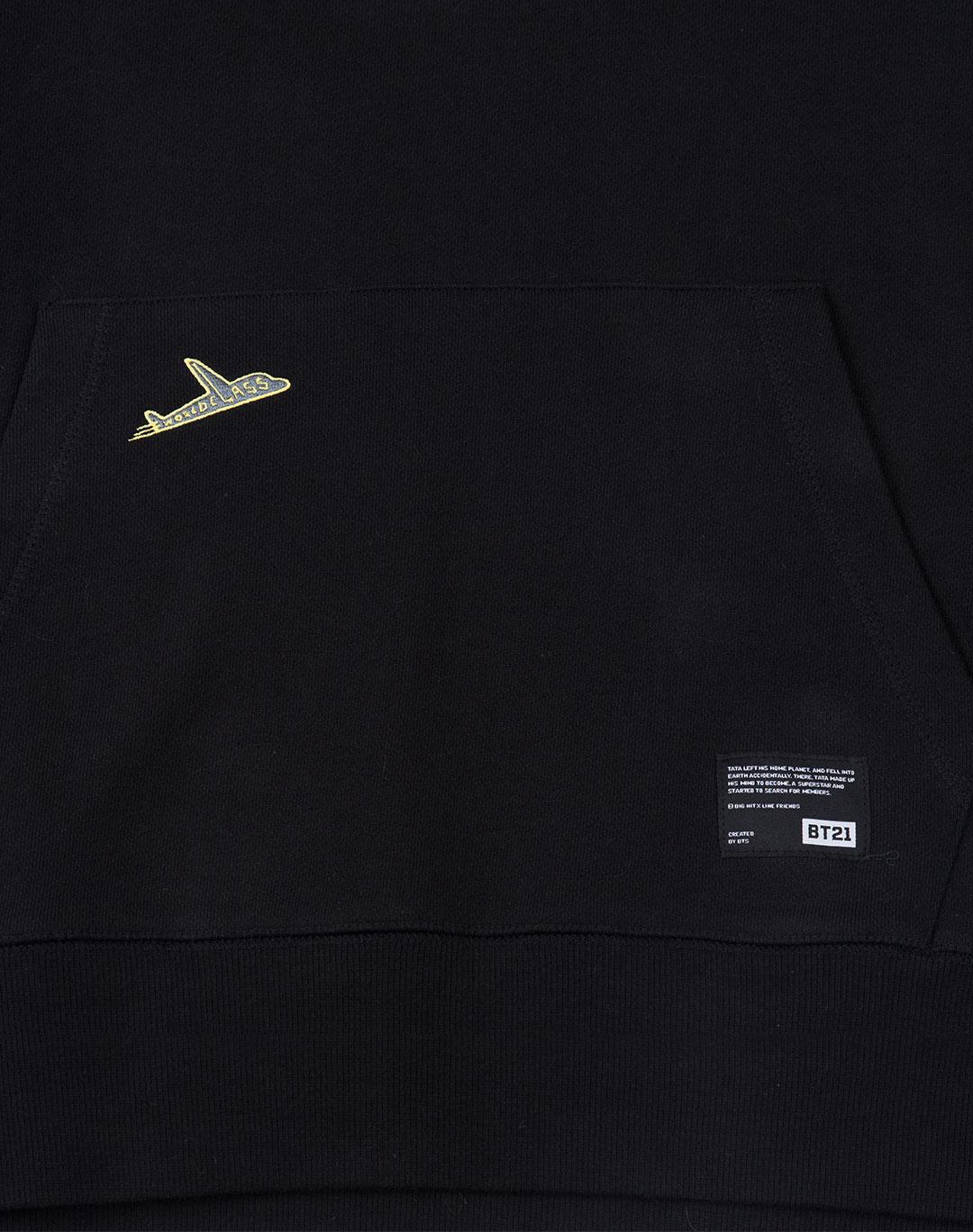 BT21 COOKY Black Patch Point Hoodie BTS Women/'s S-XL Size 100/% Authentic